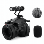 COMICA CVM-VM10II-B MINI ON-CAMERA DIRECTIONAL SHOTGUN MIC (BLACK)